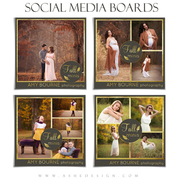 Social Media Boards | Fall Foil set