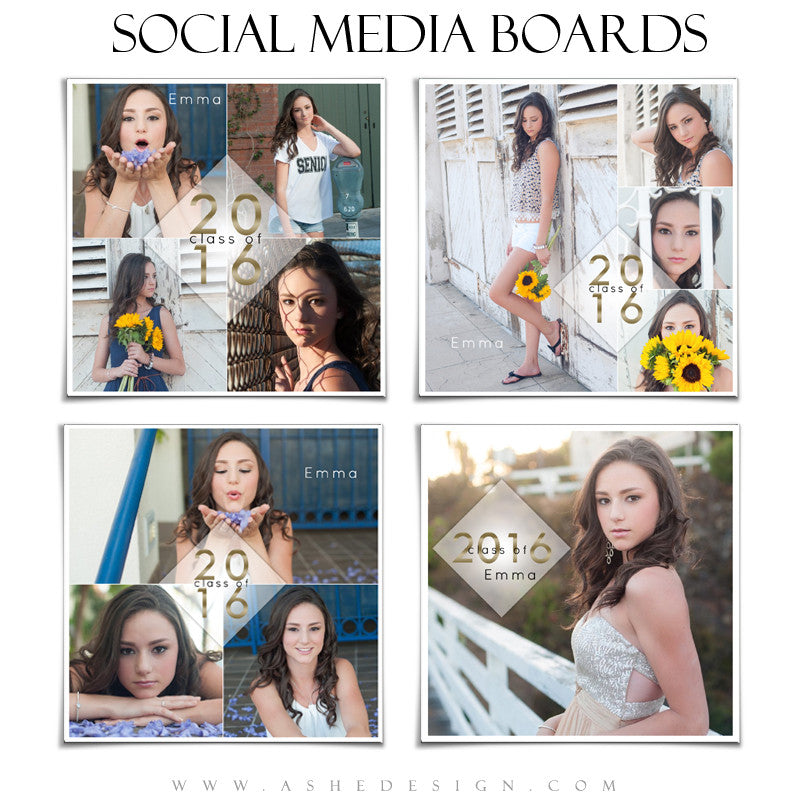 Social Media Boards | Class Of 2016 set