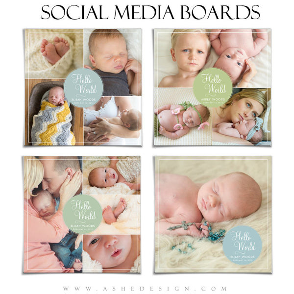 Ashe Design | Social Media Boards | Hello World set
