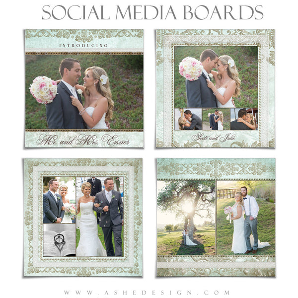 Social Media Boards | Tiffany Damask