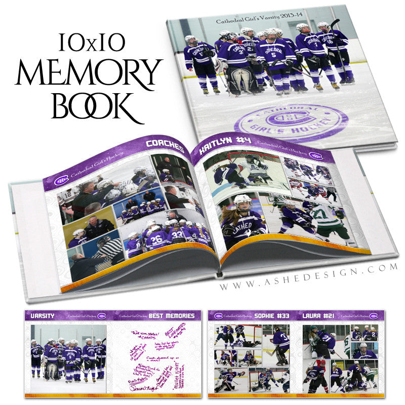 Ashe Design | Memory Maker Yearbook 10x10 Cover web display