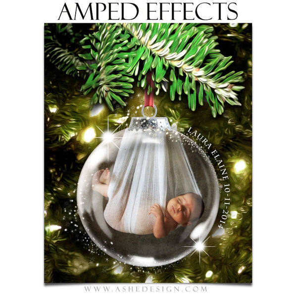 Ashe Design | Amped Effects Photography Templates | Star Dust Glass Ornament 2