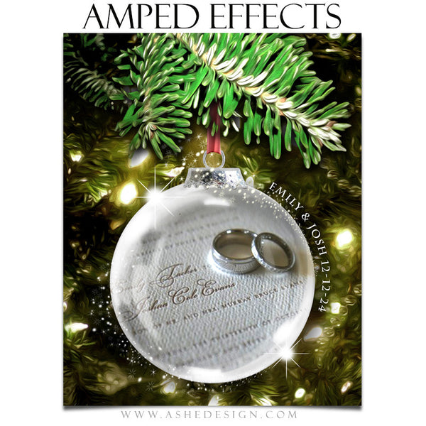 Ashe Design | Amped Effects Photography Templates | Star Dust Glass Ornament 3