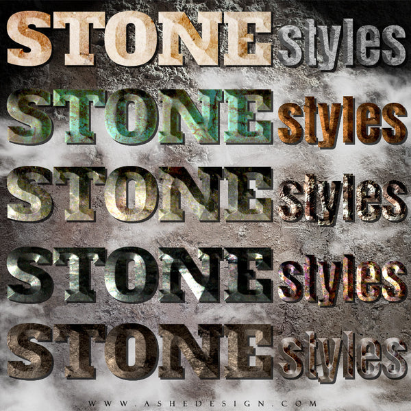 Designer Gems - Photoshop Style Set - Stone