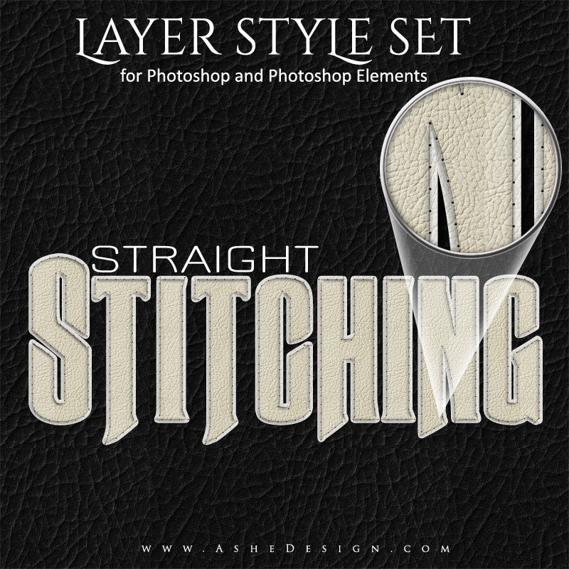 Photoshop Styles | Straight Stitch Text Effect