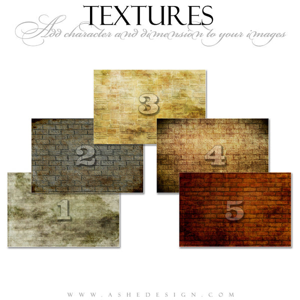 Ashe Design | Brick Wall Texture Overlays