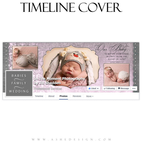 Newborn Facebook Timeline Cover | Christina