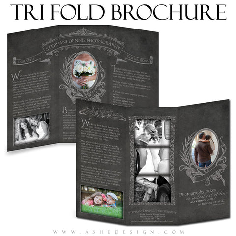 Chalkboard 8.5x11 Marketing Tri-fold Brochure web display