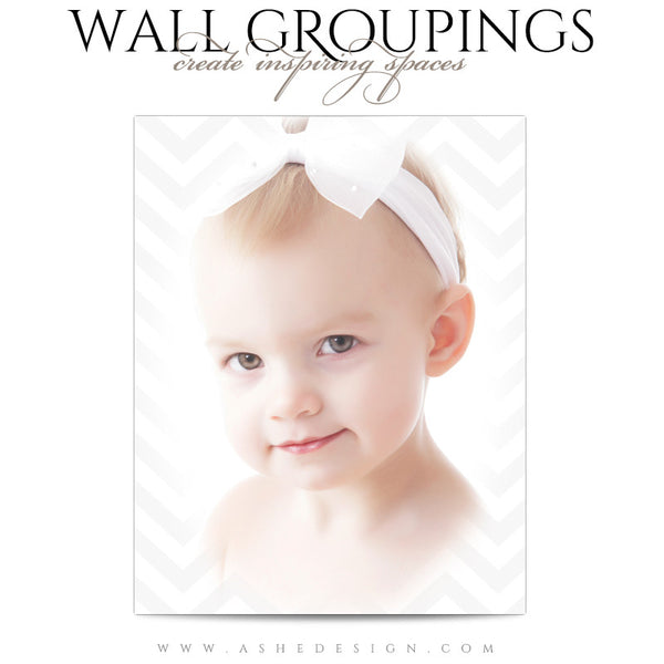 Wall Groupings Children Photography Templates | Chevron Baby1