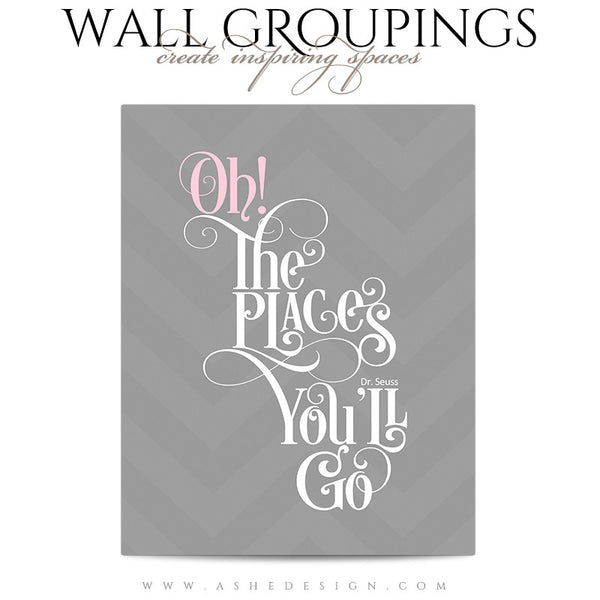 Wall Groupings Children Photography Templates | Chevron Baby2