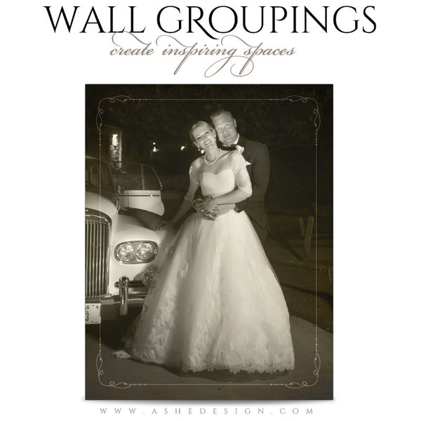 Ashe Design | Wall Groupings Weddings Photography Templates | Our Love Story2