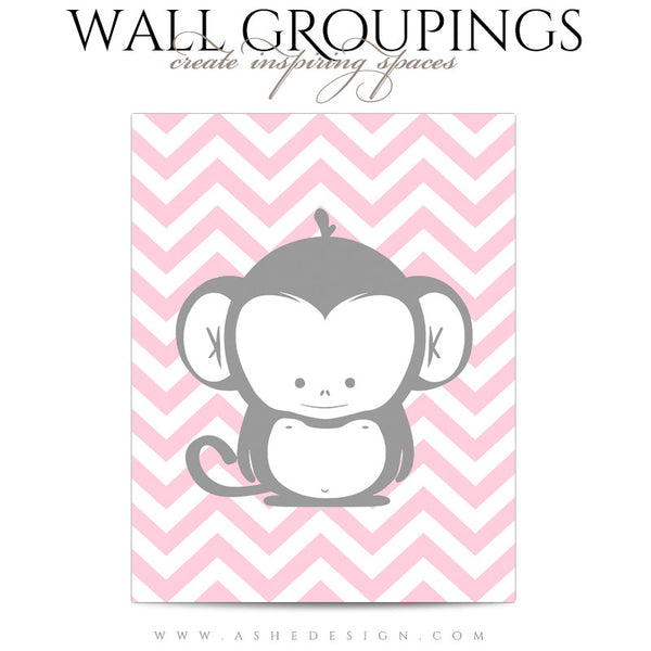 Wall Groupings Children Photography Templates | Chevron Baby3