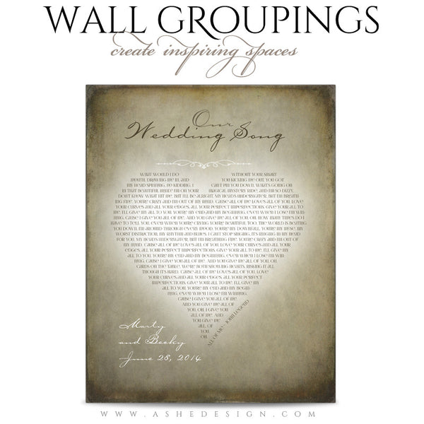 Ashe Design | Wall Groupings Weddings Photography Templates | Our Love Story3