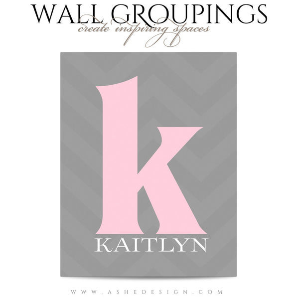 Wall Groupings Children Photography Templates | Chevron Baby4