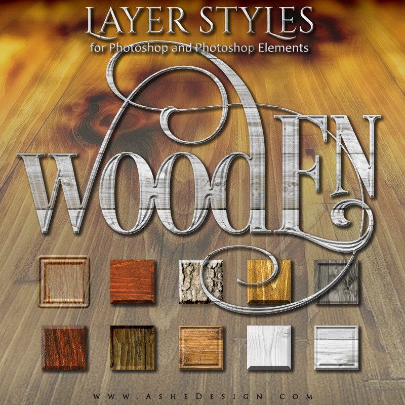 Layer Styles - Wooden full web display
