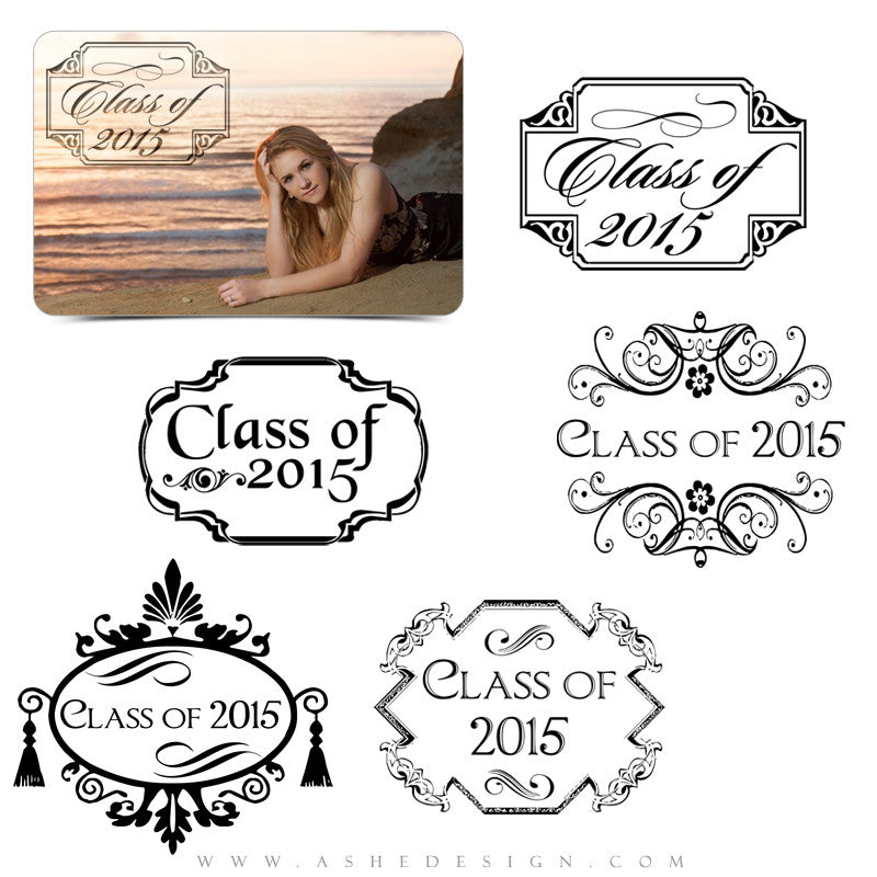 Customizable Photoshop Word Art | Senior Frames