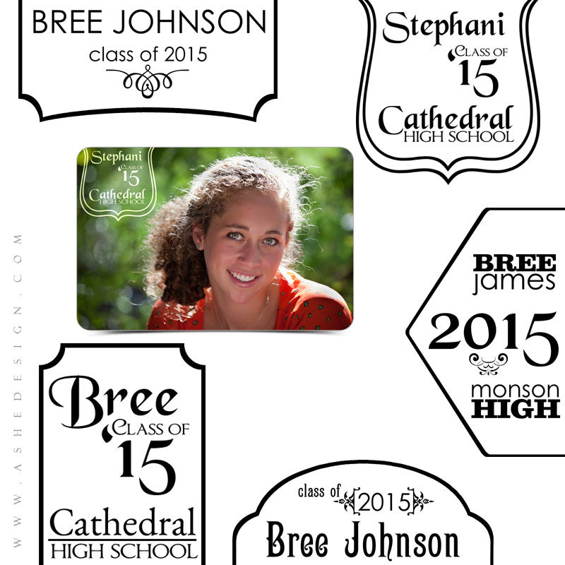 Customizable Photoshop Word Art | Senior Tags