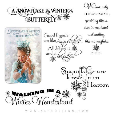 Photoshop Christmas Word Art | Winter Wonderland