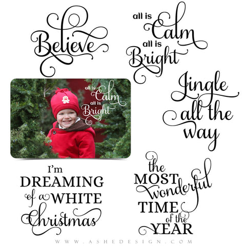 Photoshop Christmas Word Art | Jingle All The Way