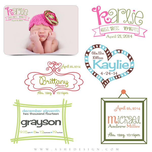 Customizable Photoshop Newborn Word Art | Doodle Bugs