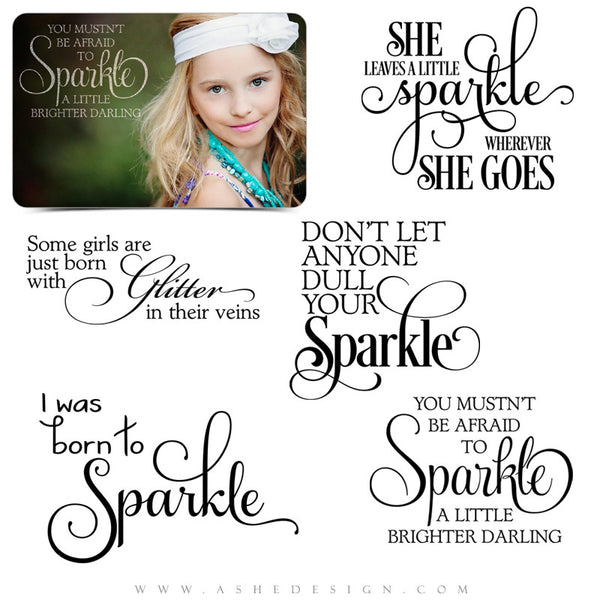 Photoshop Word Art | Born To Sparkle full set