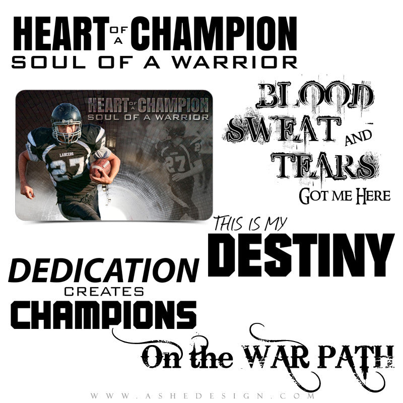 Sports Word Art Quotes | Soul Of A Warrior