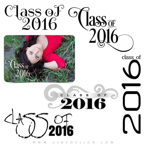 Graduation Word Art Set | Senior Swirls 2016 full set