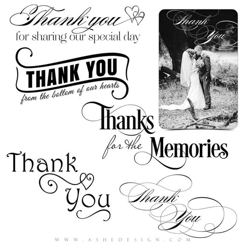 Wedding Word Art | Thanks For The Memories