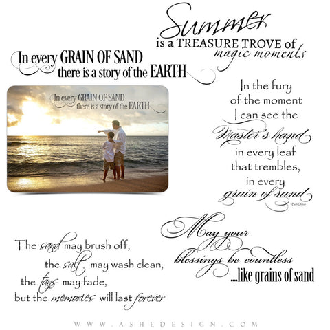 Grains Of Sand Inspirational Word Art Quotes