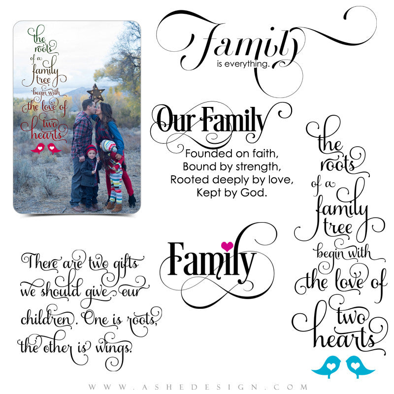 Photoshop Word Art | Family Tree full set