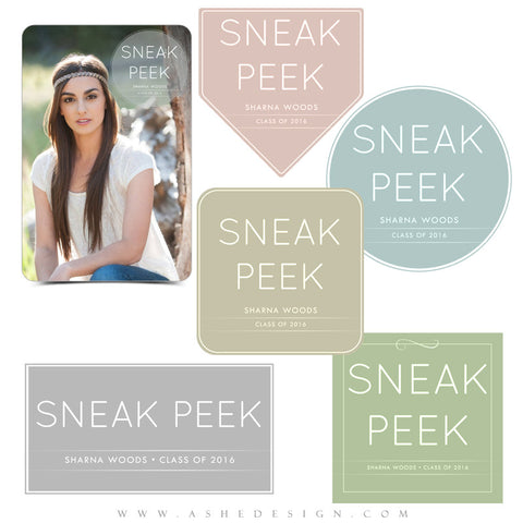 Customizable Senior Word Art Set | Sneak Peek full set