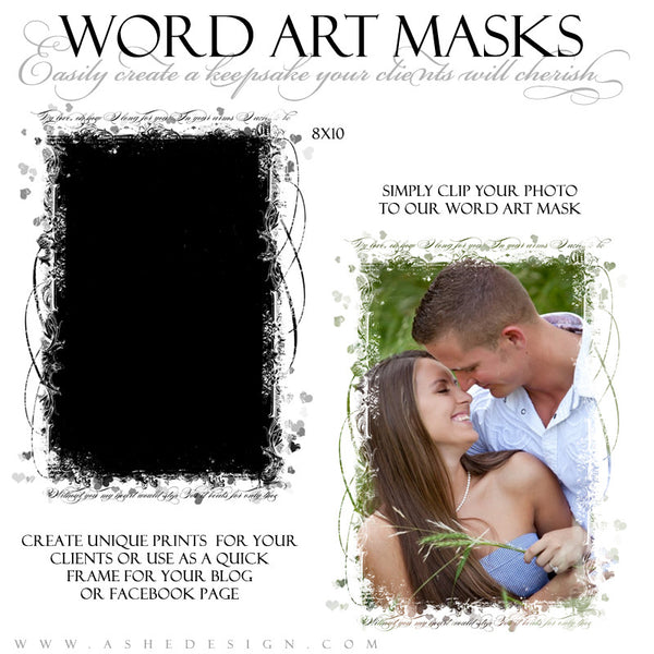 Word Art Layer Masks - My Love example1 web display