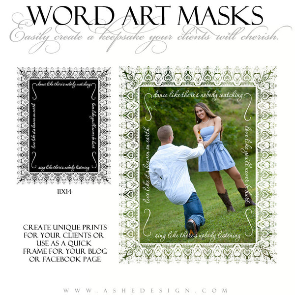 Word Art Layer Masks - Heaven On Earth example1 web display