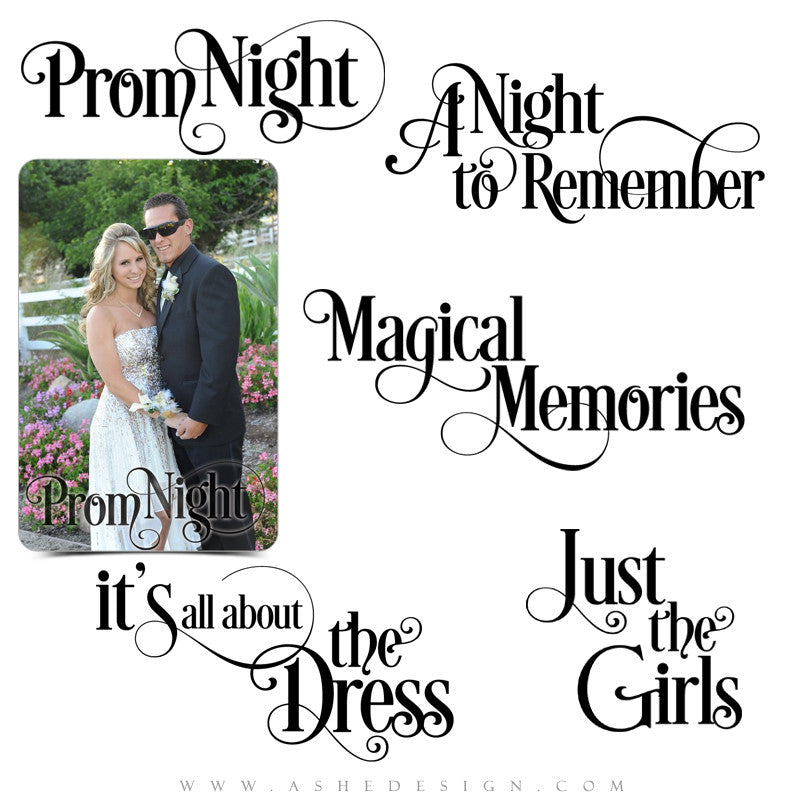Photoshop Seniors Word Art | Prom Night