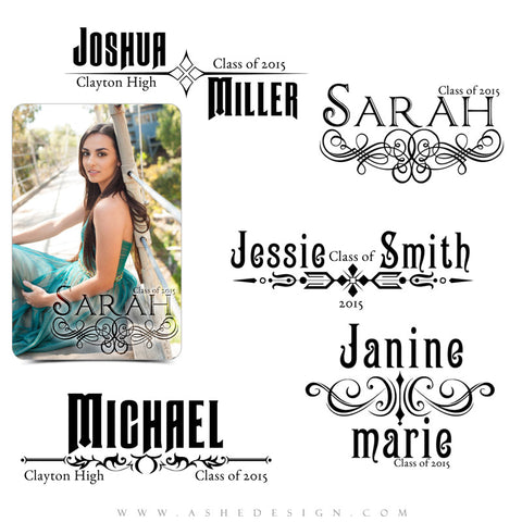 Customizable Photoshop Word Art | Senior Banners