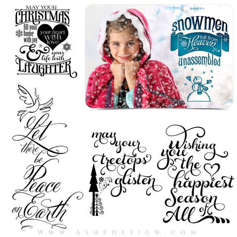 Photoshop Christmas Word Art | Happiest Season