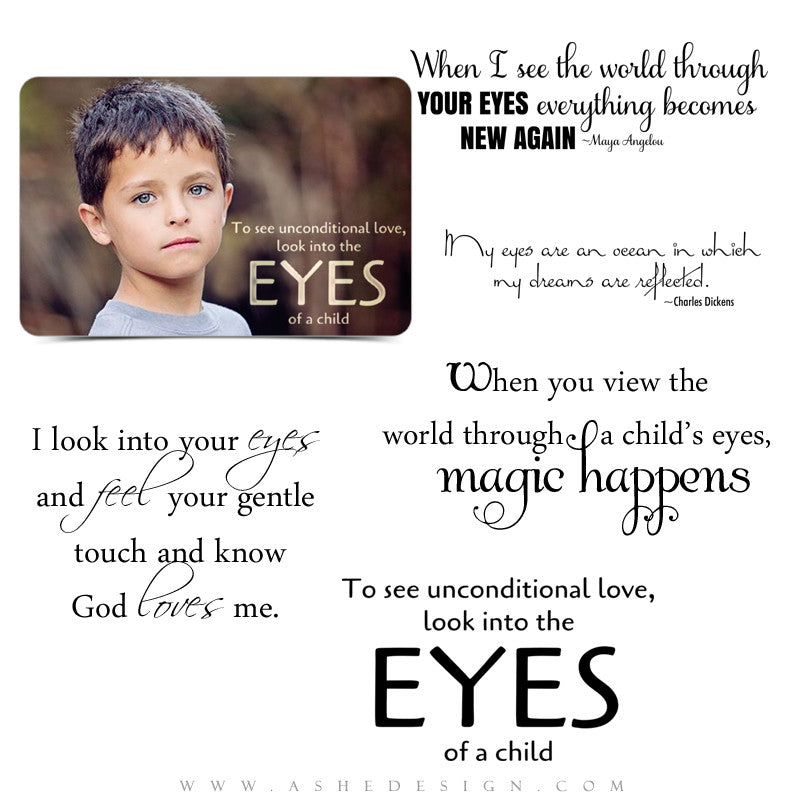 Inspirational Word Art Quotes Eyes Of A Child Ashedesign