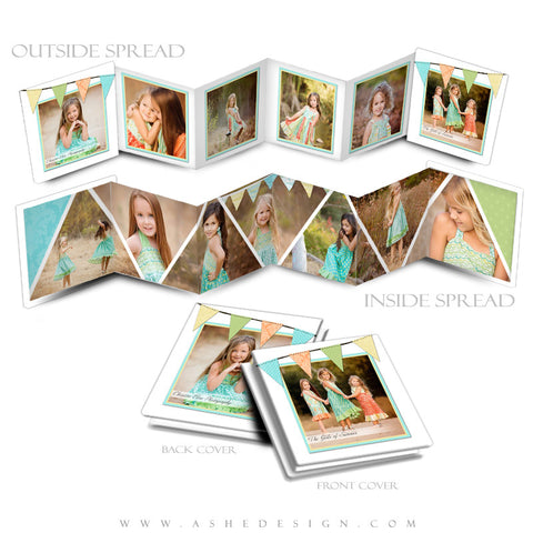Pennant 3x3 Accordion Mini Book Template