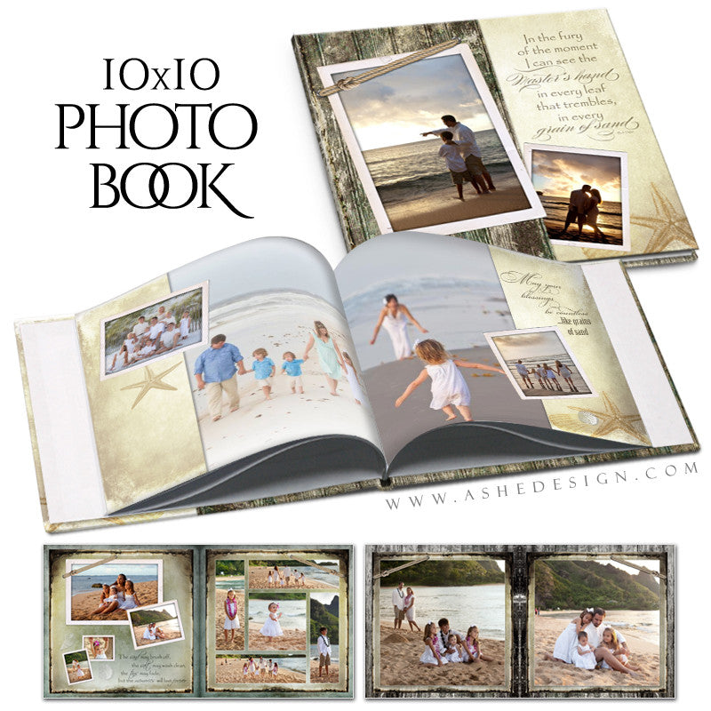 Photo Book 10x10 | Footprints In the Sand cover