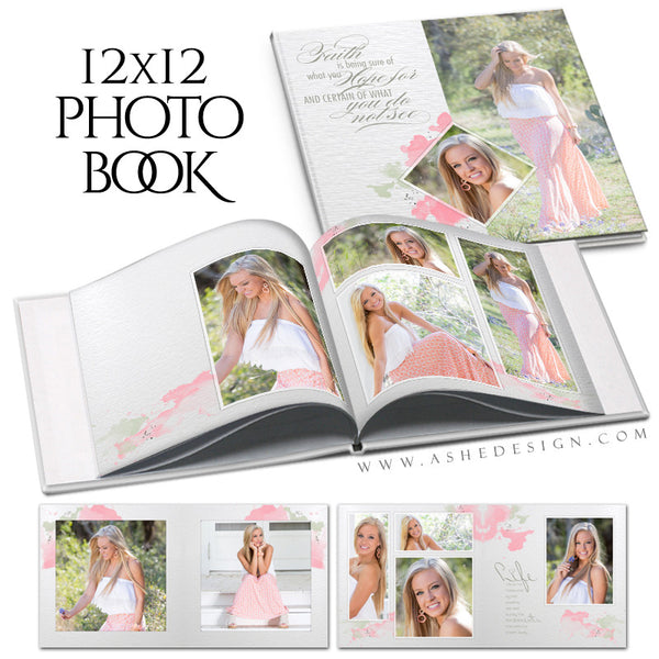 Photo Book Templates 12x12 | Watercolors cover