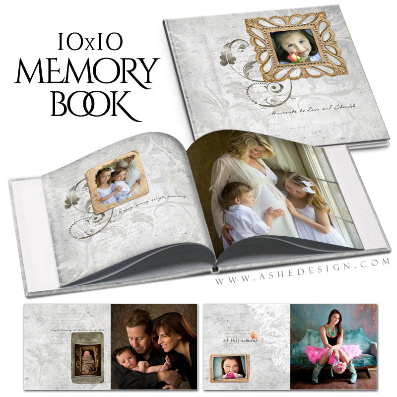 Subtle Focus - Moments - 10x10 P BK open book web display