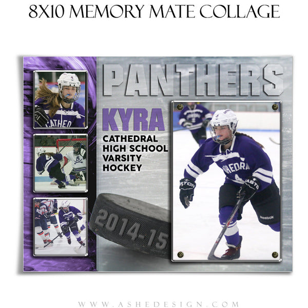 Sports Memory Mate Templates 8x10 | Ice Hockey HZ