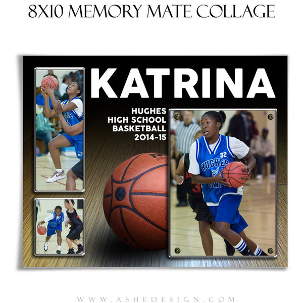 Sports Memory Mate Templates 8x10 | Basketball HZ