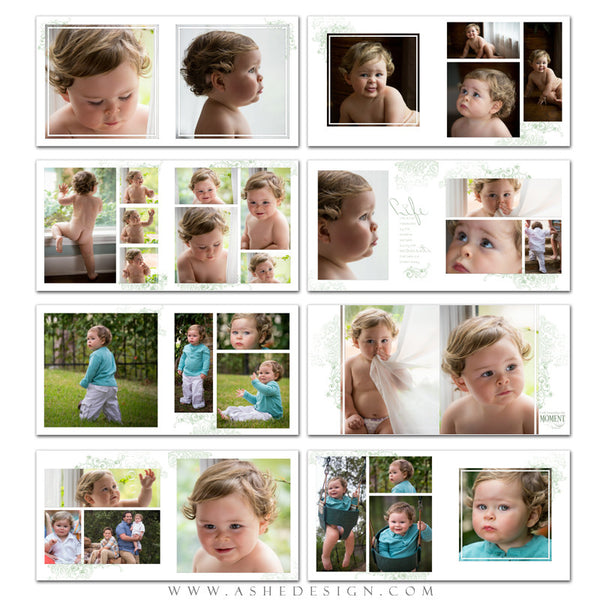 Square Photo Book Template | Color Block pages