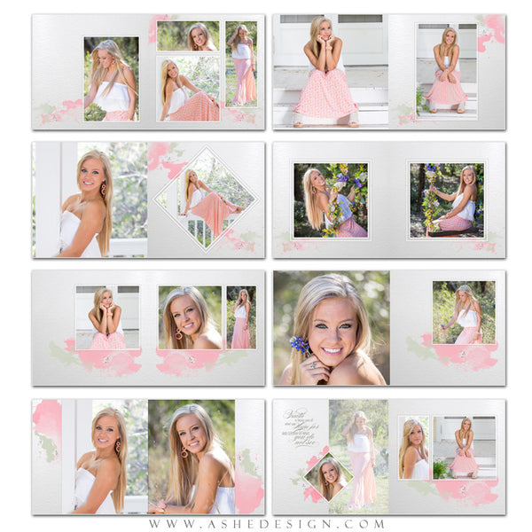 Photo Book Templates 12x12 | Watercolors pages