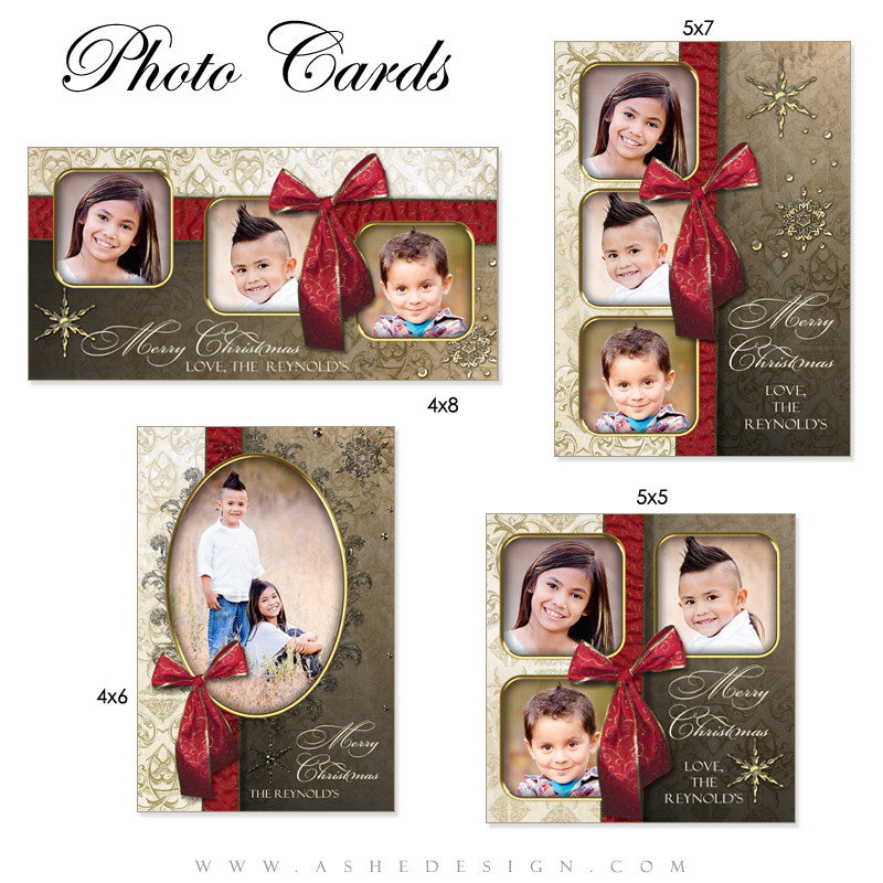 Joyful & Triumphant Holiday Photo Card Templates