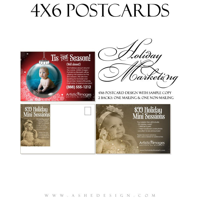 Marketing Post Card 4x6  - Ornamental