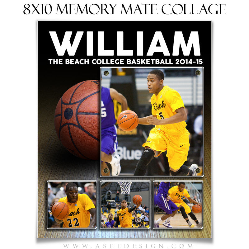Sports Memory Mate Templates 8x10 | Basketball VT