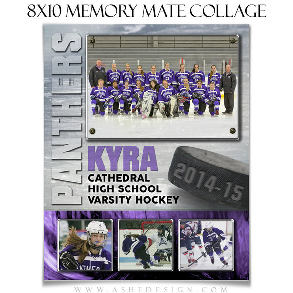 Sports Memory Mate Templates 8x10 | Ice Hockey VT