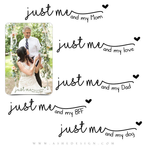 Photoshop Family Word Art | Just Me full set